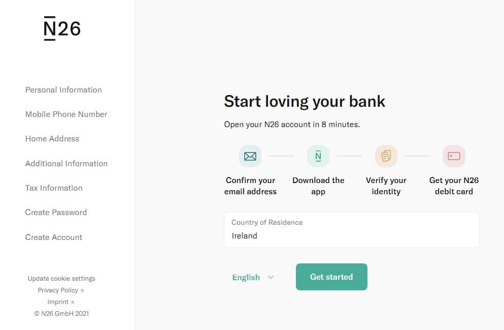 Get free bank online account